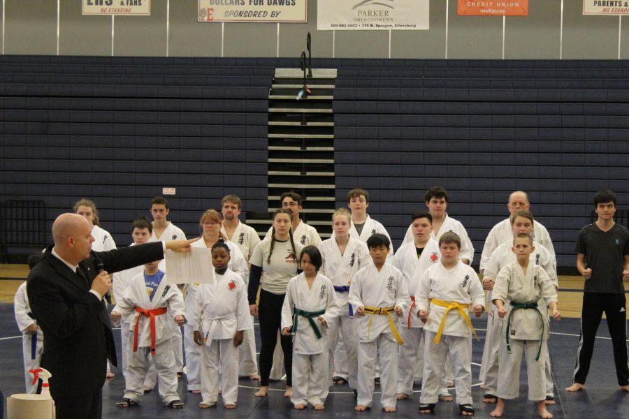 Kata forms and kumite kicks