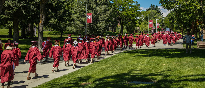 County implemented no rules prohibiting CWU from postponing commencement