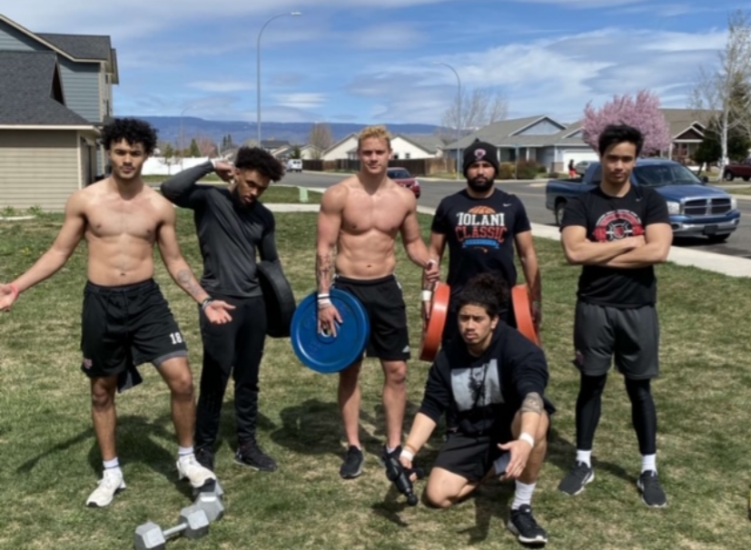 CWU Football student athletes have had to get creative for working out. Whether they returned home for the quarter or stayed in Ellensburg, all gyms across the country are closed. Some of the student athletes think the team's physical shape will take the biggest hit due to COVID-19.