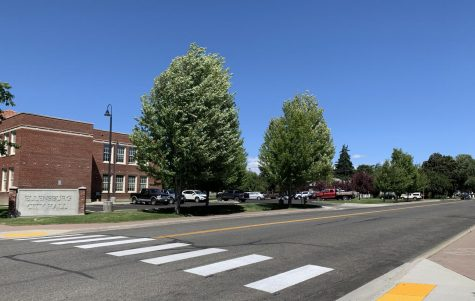 The street outside of Ellensburg City Hall where organizers plan to paint a Black Lives Matter mural.