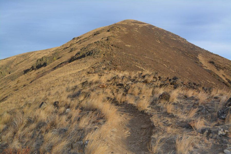 At the top of the trail hikers find scenic views of Ellensburg and its surroundings.