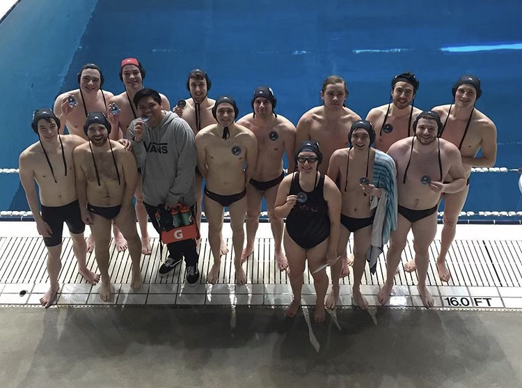 CWU+water+polo+club+poses+together+for+a+photo+back+in+2019+after+a+successful+competition.