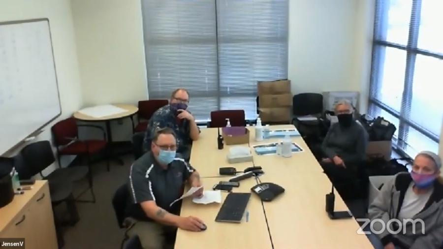 Skip Jenson makes public comment via Zoom at the Board of Trustees Oct. 29 meeting.