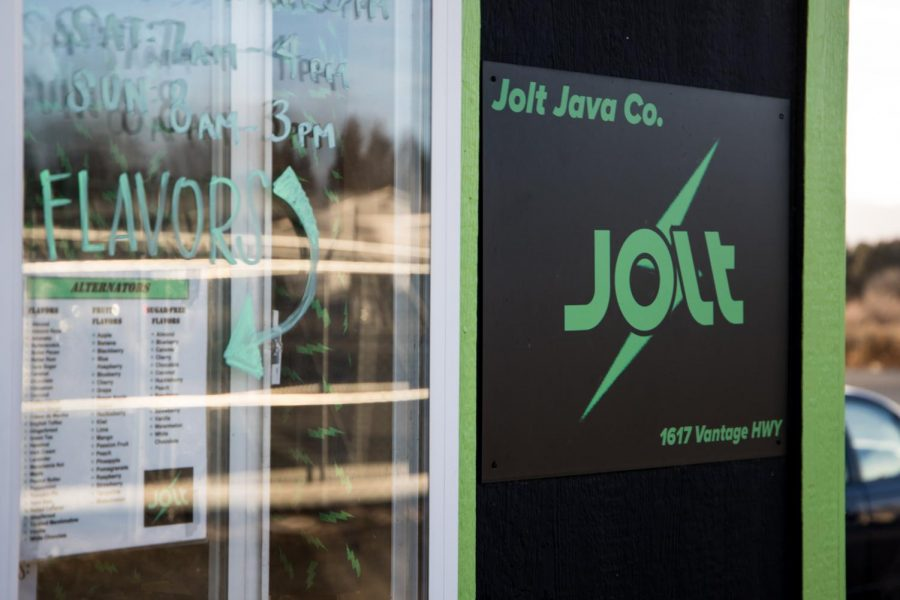 Jolt Java serves customers on Vantage Highway just east of Ellensburg.