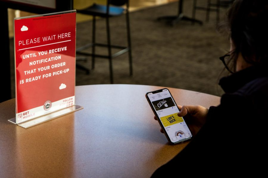 Students can now mobile order food from dining services to help comply with health and safety guidelines.