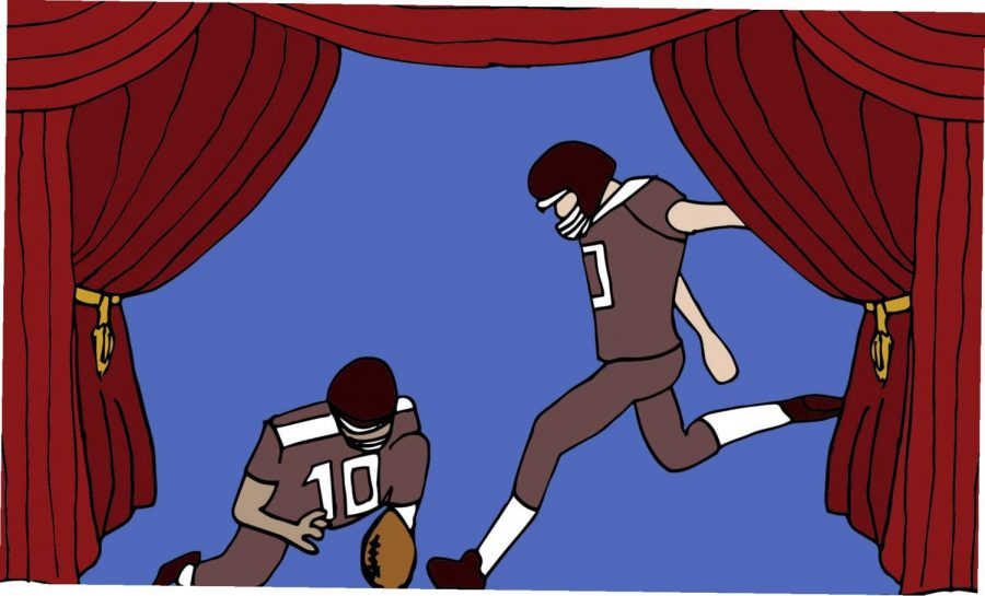 Broadway stays closed but football has curtains up