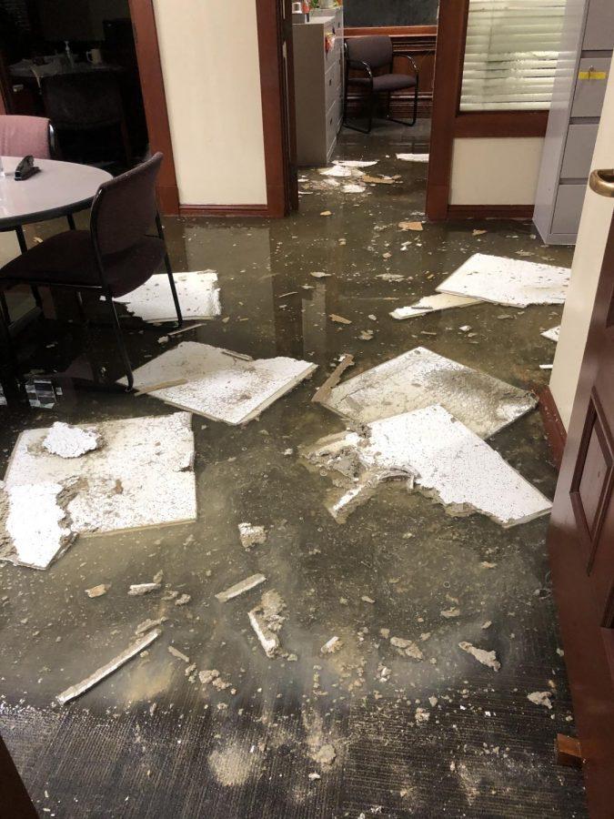 Barge Hall damage now estimated at $1 million
