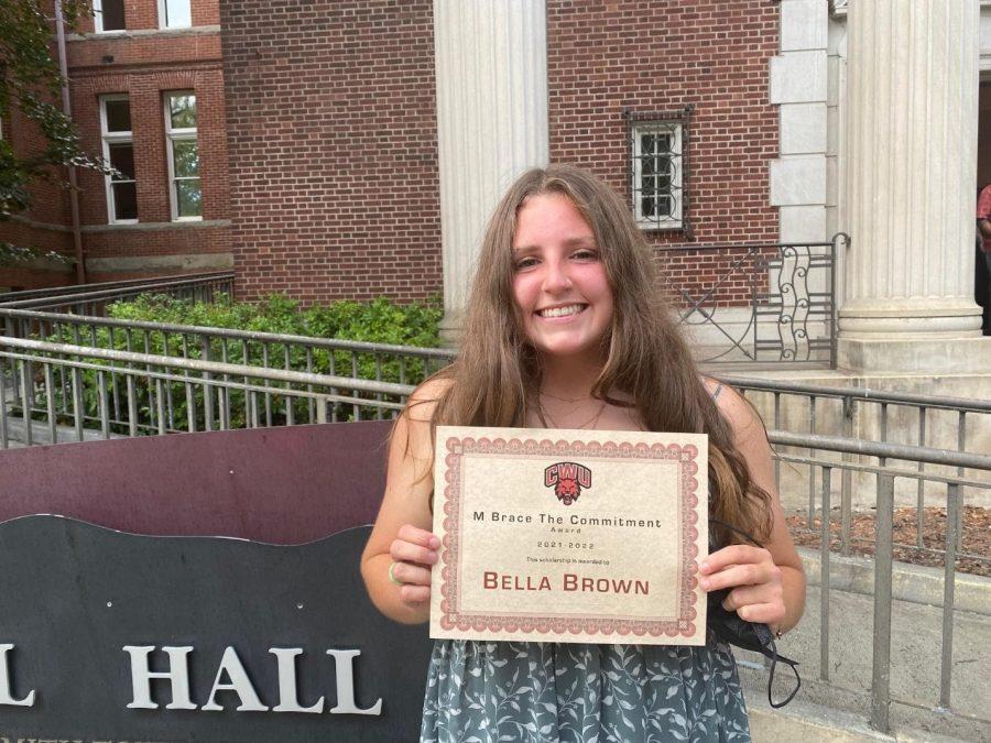 Bella Brown, Women's Soccer, one of the winners of the M-Brace award